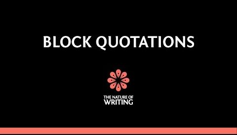 Block Quotations | Essay Writing