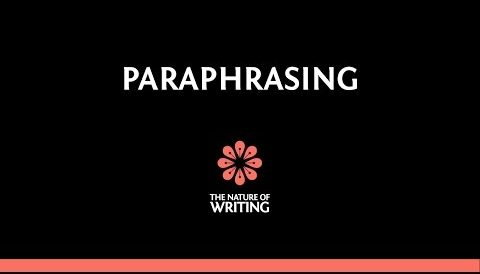 Paraphrasing | Integrating Quotations | Essay Writing