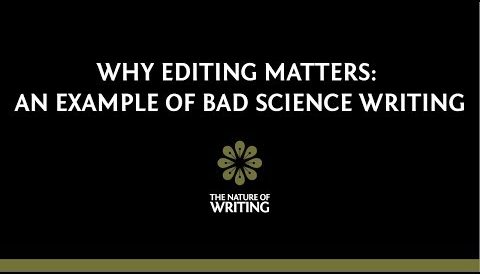 Why Editing Matters: An Example of Bad Scientific Writing