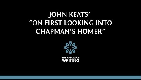 """An Explanation of John Keats' """"Upon First Looking into Chapman's Homer"""""""